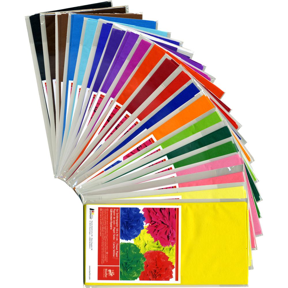 seidenpapier 50 x 70 cm 5 bogen farbig. Black Bedroom Furniture Sets. Home Design Ideas