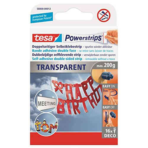 tesa 16 Powerstrips DECO transparent