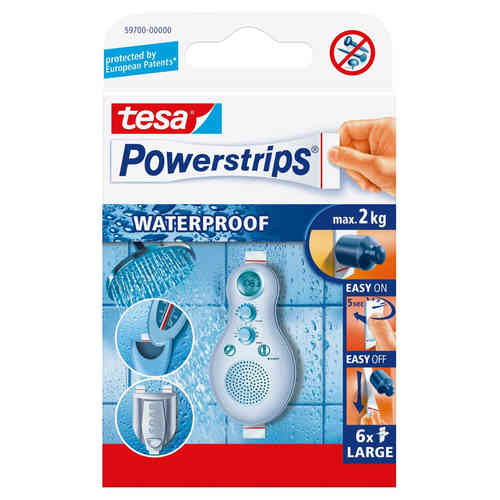 tesa 6 Powerstrips waterproof