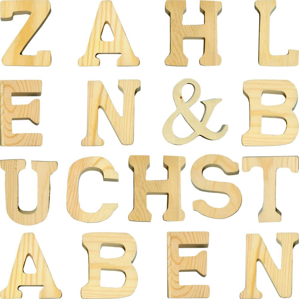Buchstabe Z Holzbuchstabe Natur // 8 cm