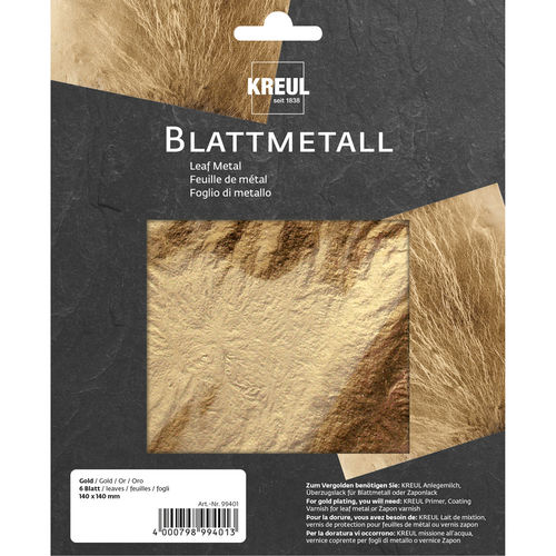ART DECO Blattmetall gold