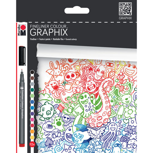 "Fineliner Colour GRAPHIX ""Doodle Supreme"" 12er"
