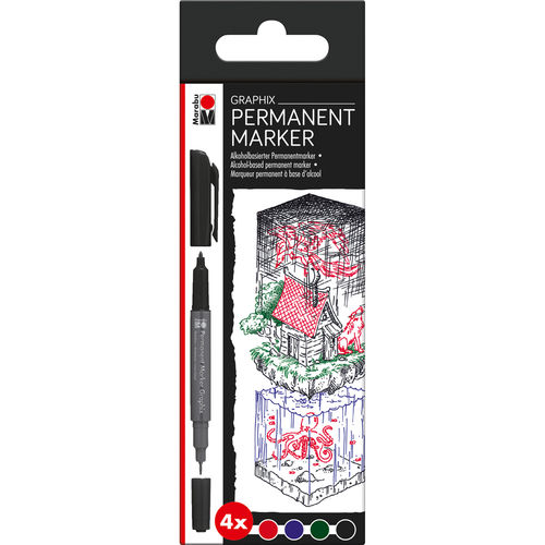 Permanent Marker Graphix 4er-Sortierung ONCE UPON A TIME